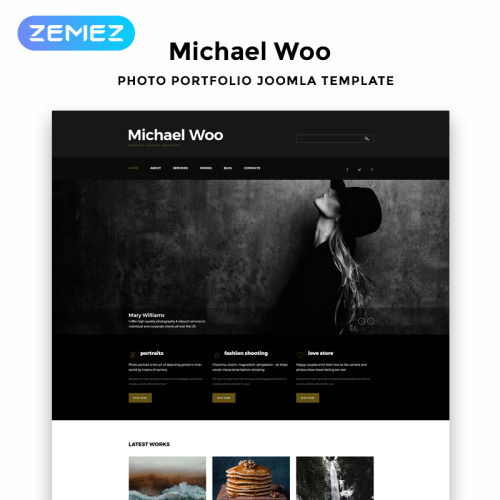 Michael Woo - Joomla! Template based on Bootstrap
