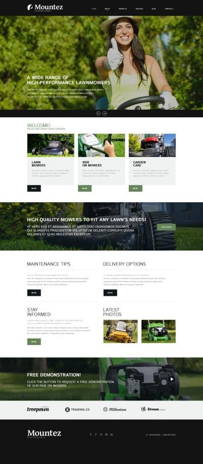 Responsive Plantilla Joomla #52589 para Sitio de  para Sitio de Diseño de paisaje