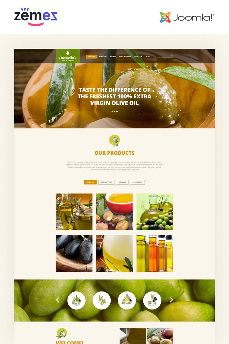 Plantilla Joomla Responsive para Sitio de Comida y bebida #52579 - captura de pantalla