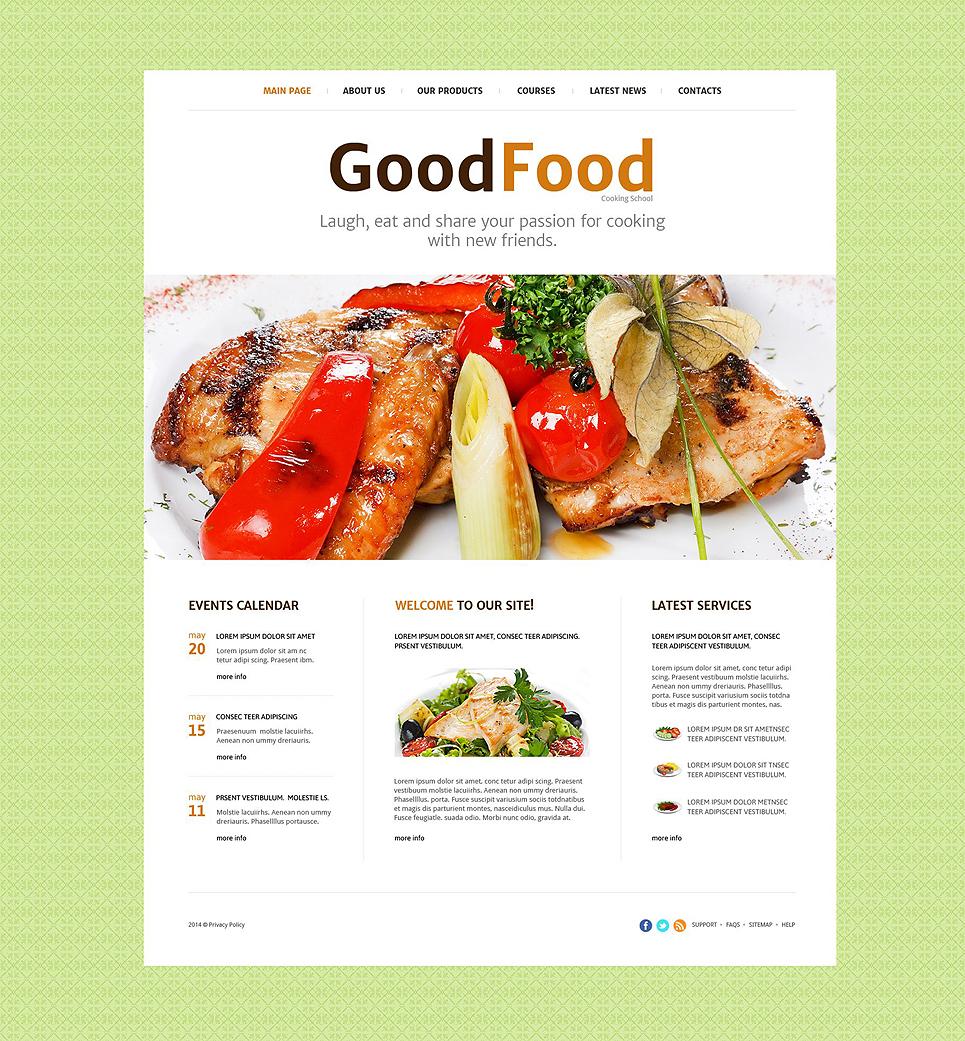 Plantilla web 52545 para sitio de escuelad de cocina for Plantillas de cocina