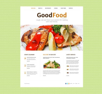 Responsive Plantilla Web #52545 para Sitio de  para Sitio de Escuelad de cocina