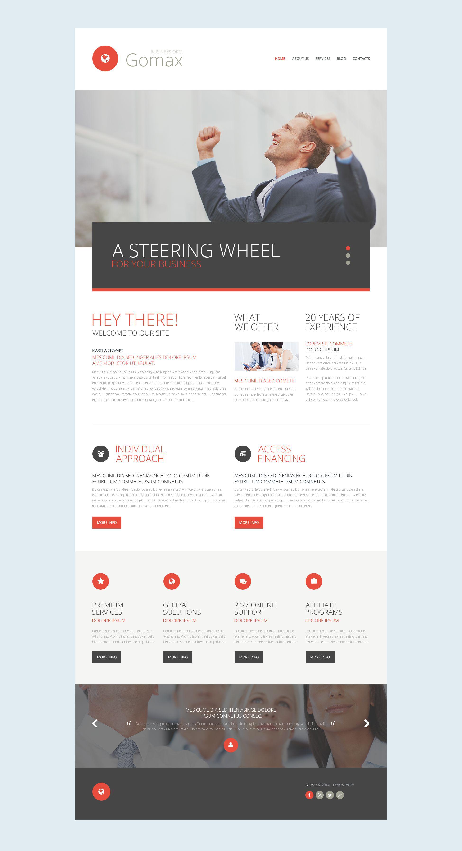 Plantilla Web Responsive para Sitio de Negocio y Servicios #52536 - captura de pantalla