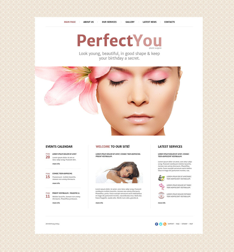 Plastic Surgeon Website Template New Screenshots BIG