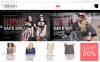 """Plus Size Women Clothing"" Responsive Magento Thema New Screenshots BIG"