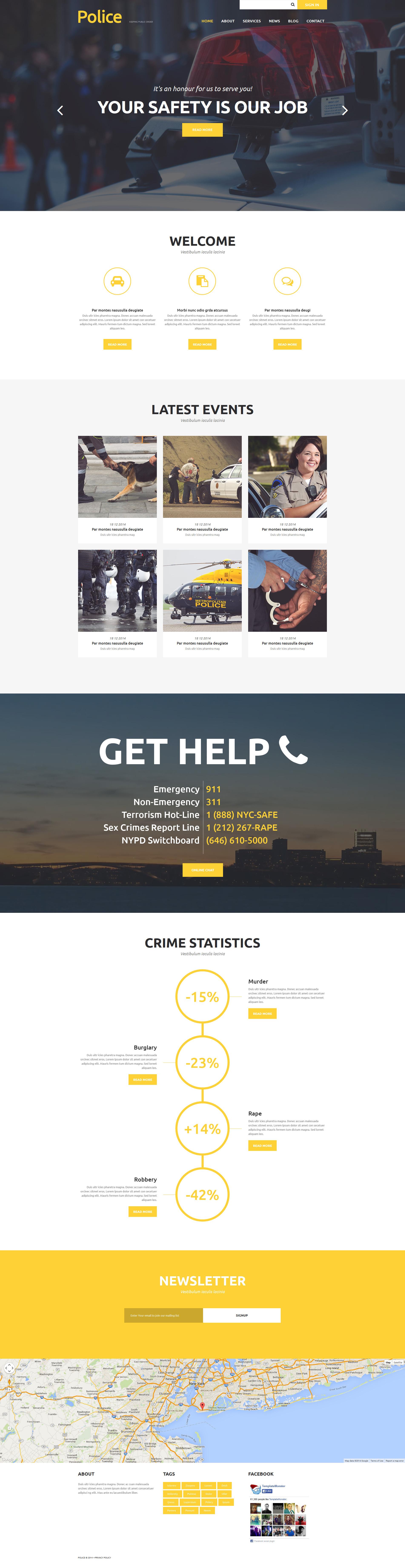 Police Department Joomla Template