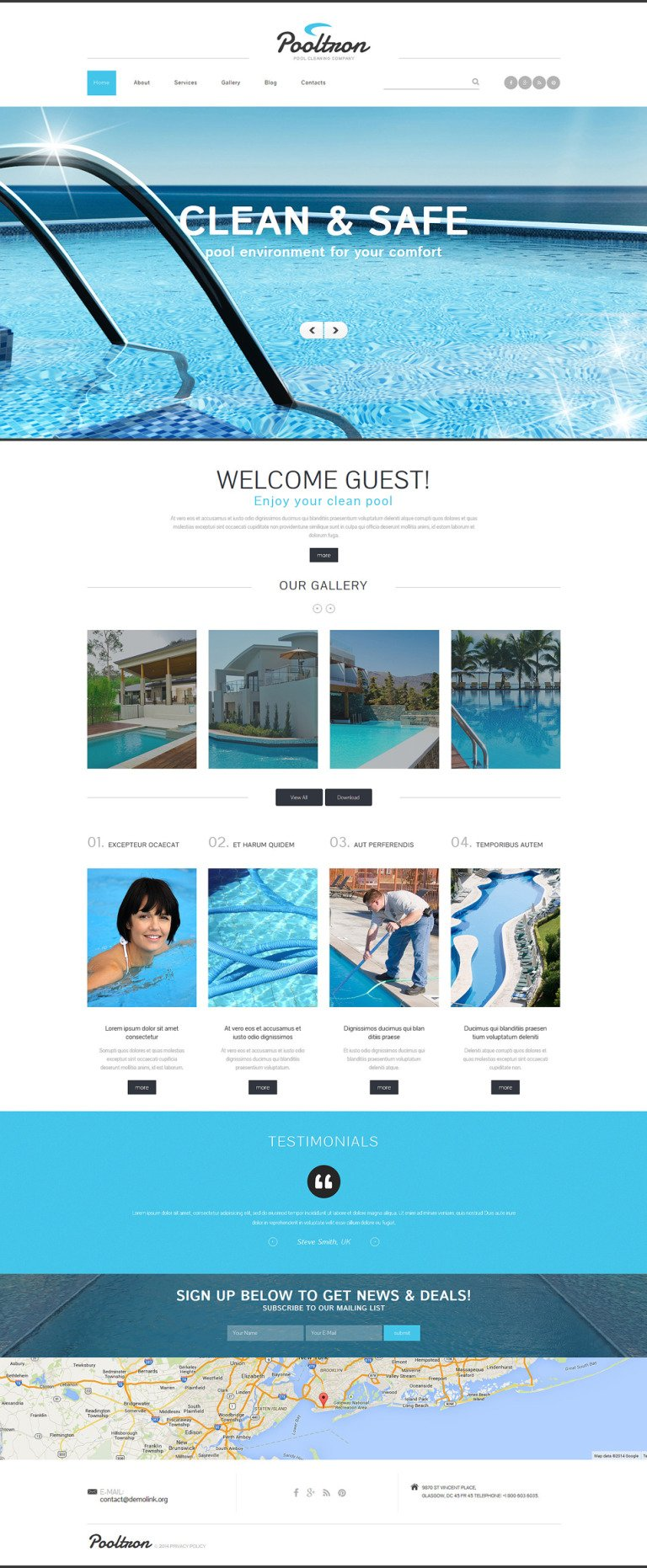 Pool Cleaning Services Joomla Template New Screenshots BIG