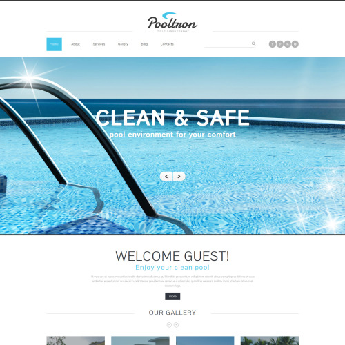 Pooltron - Joomla! Template based on Bootstrap