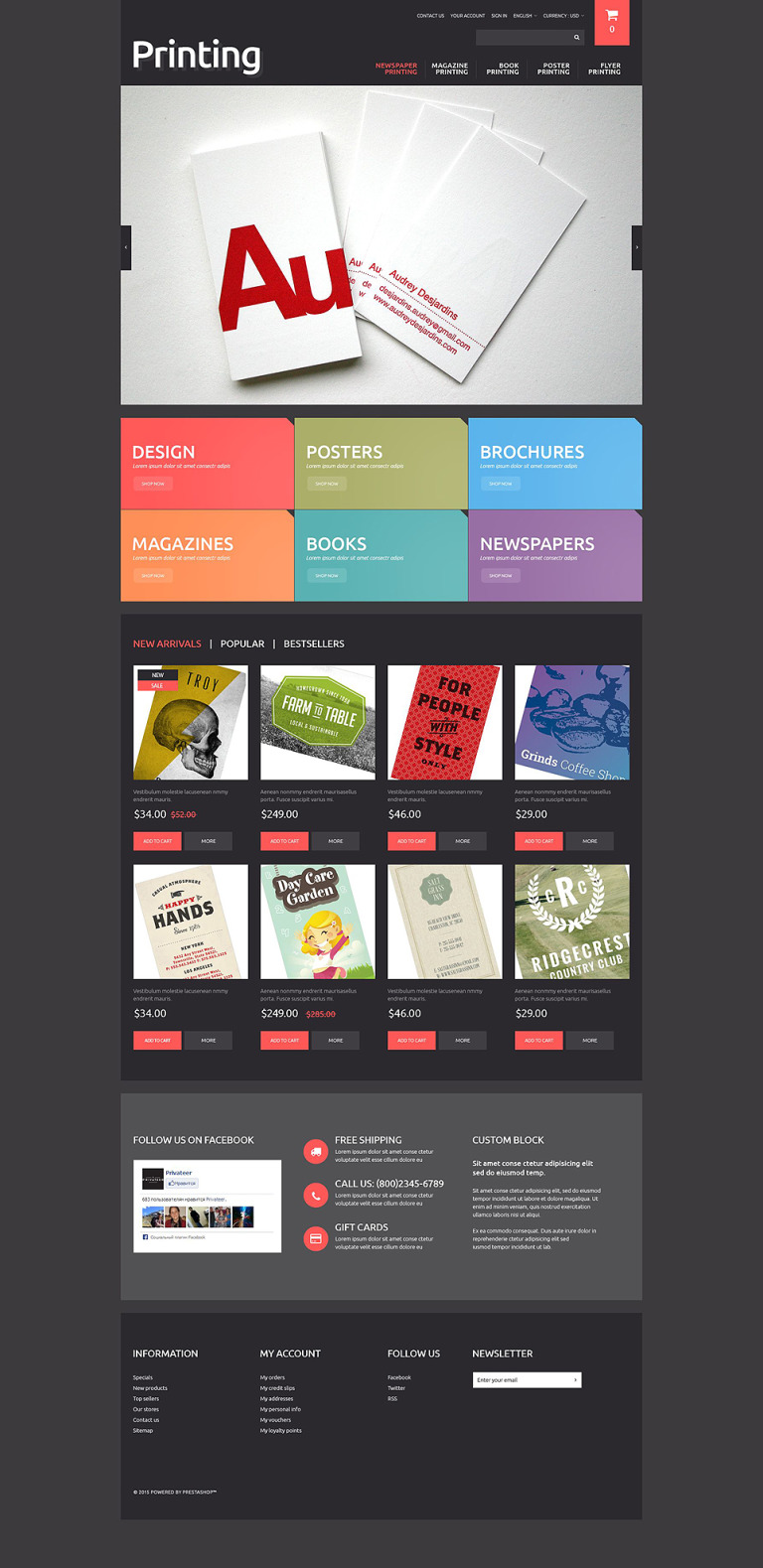 Printing Solutions PrestaShop Theme New Screenshots BIG