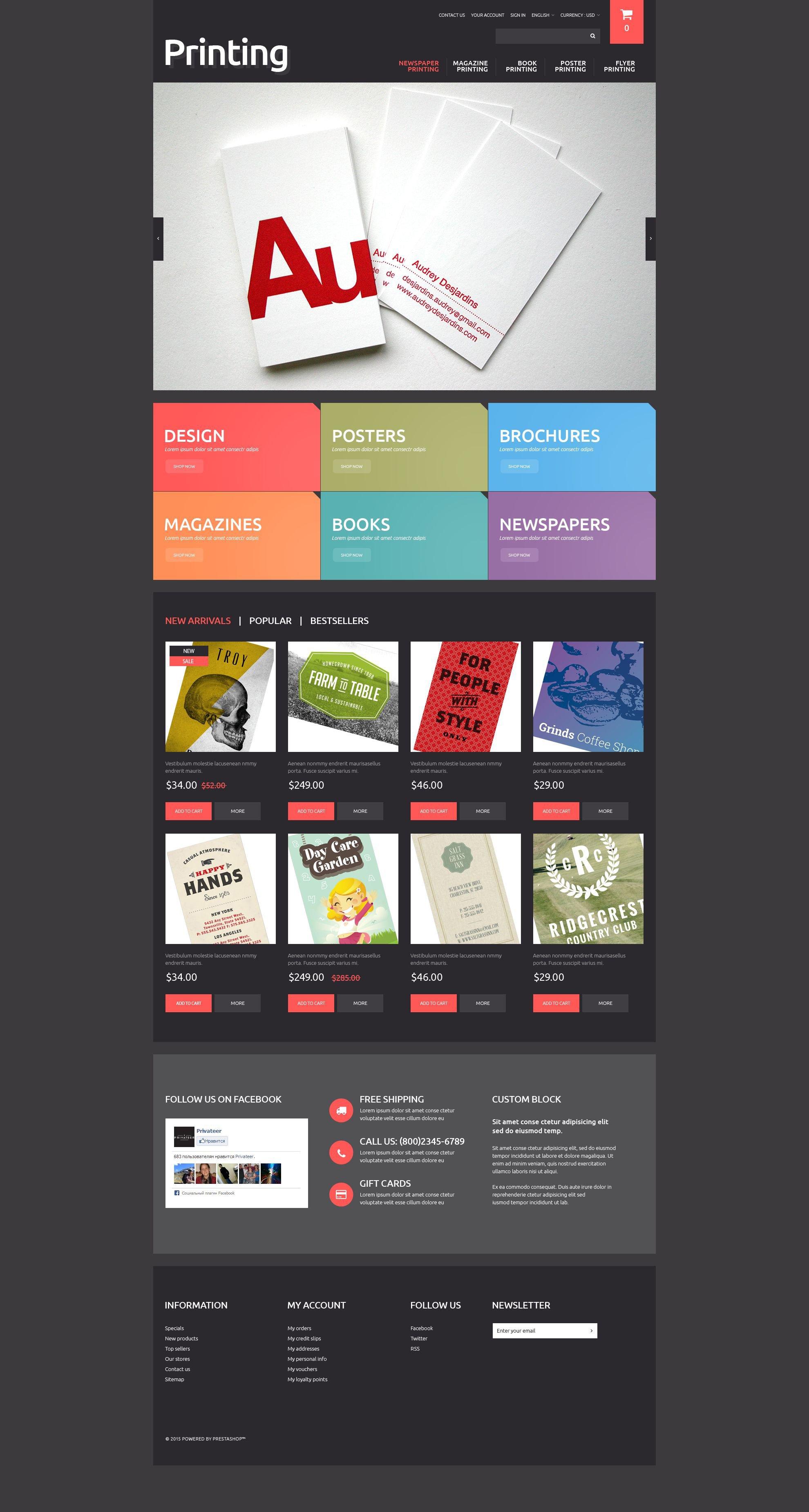 Printing Solutions PrestaShop Theme - Dreamweaver ebay template