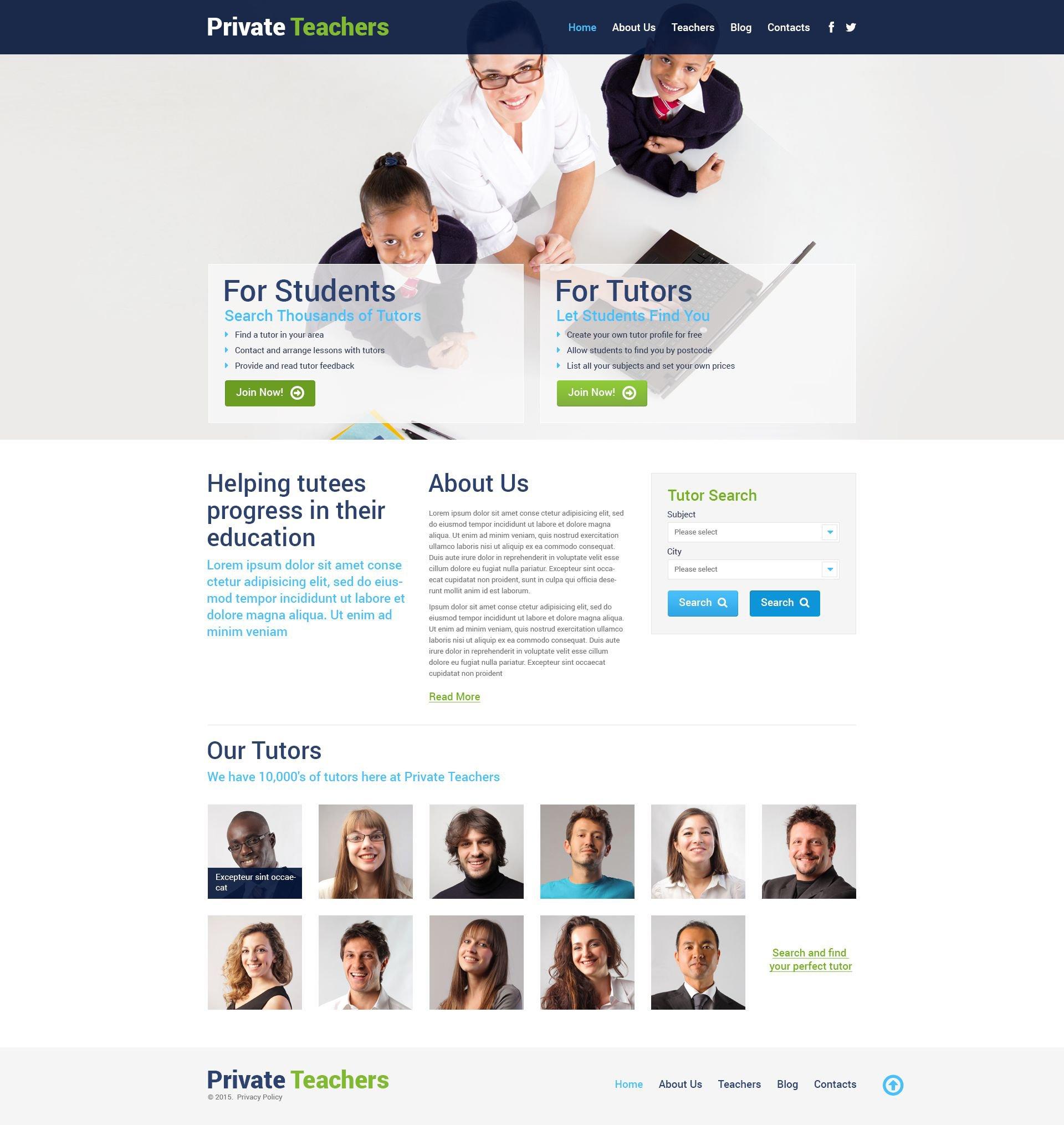 Private Teachers WordPress Theme - screenshot