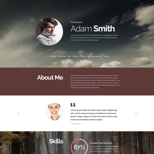 Adam Smith - Responsive Drupal Template
