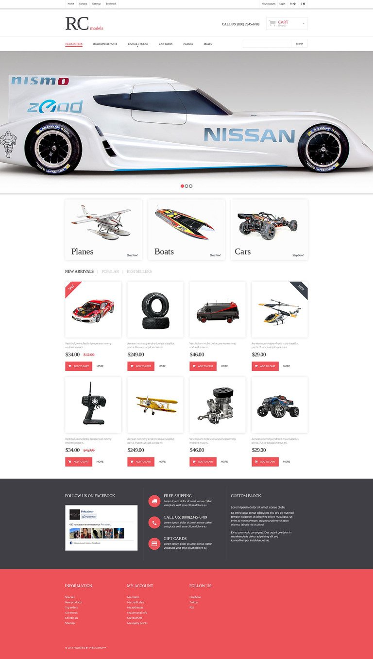 Radio Control Hobby Shop PrestaShop Theme New Screenshots BIG
