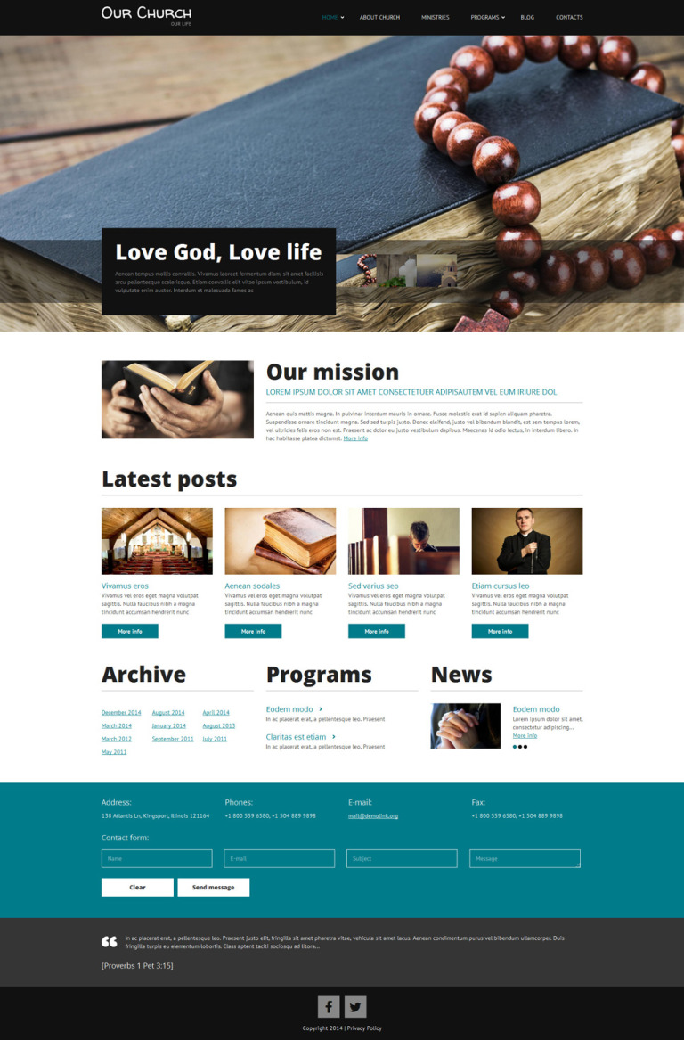Religious Responsive Drupal Template New Screenshots BIG