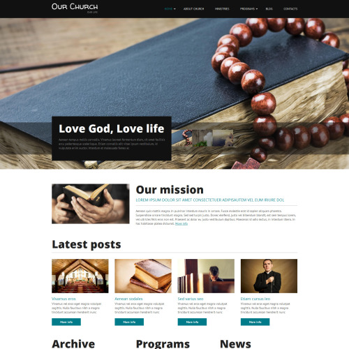 Our Church - Responsive Drupal Template