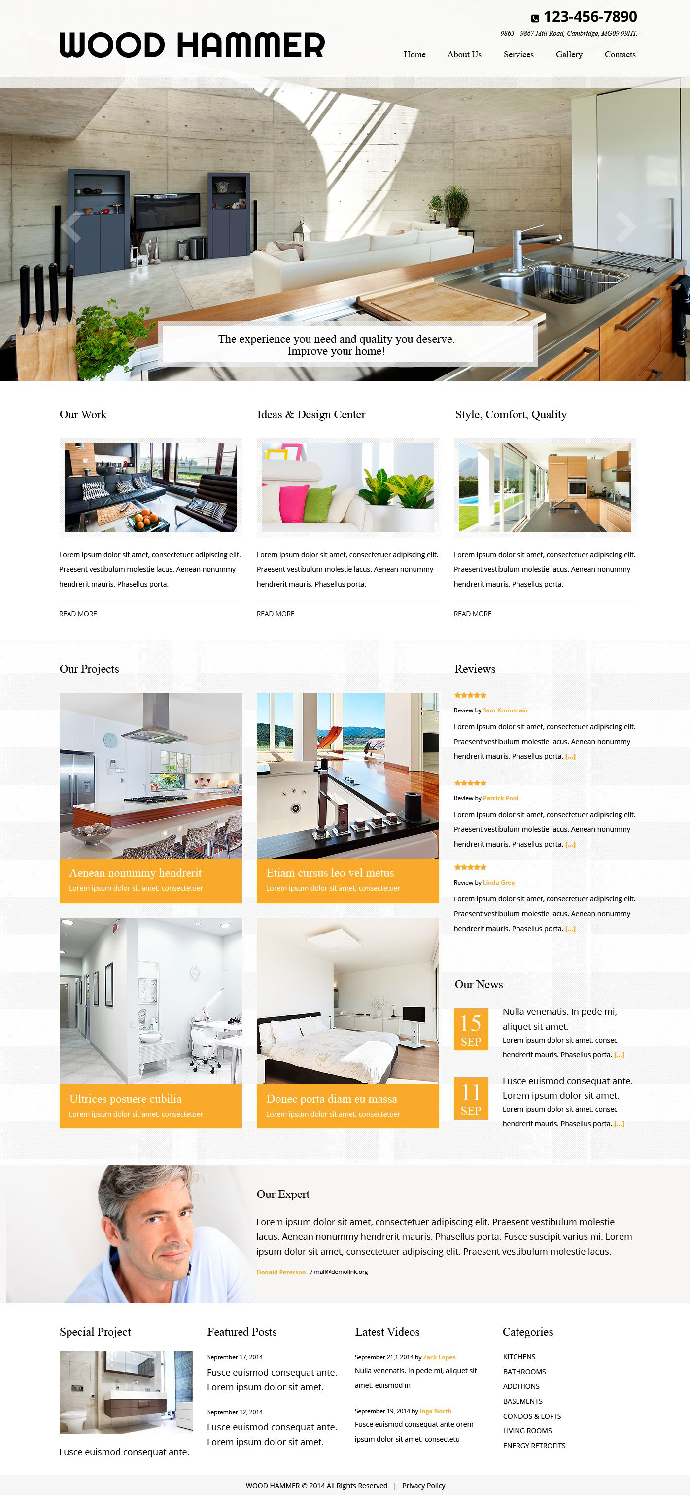 residential remodeling website template  52522