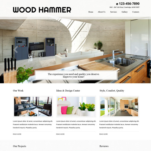 Wood Hammer - Residential Remodeling Responsive Website Template