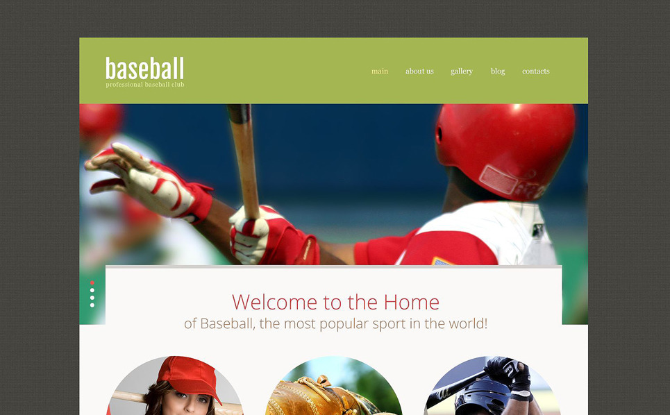 Responsive Beyzbol  Web Sitesi Şablonu New Screenshots BIG