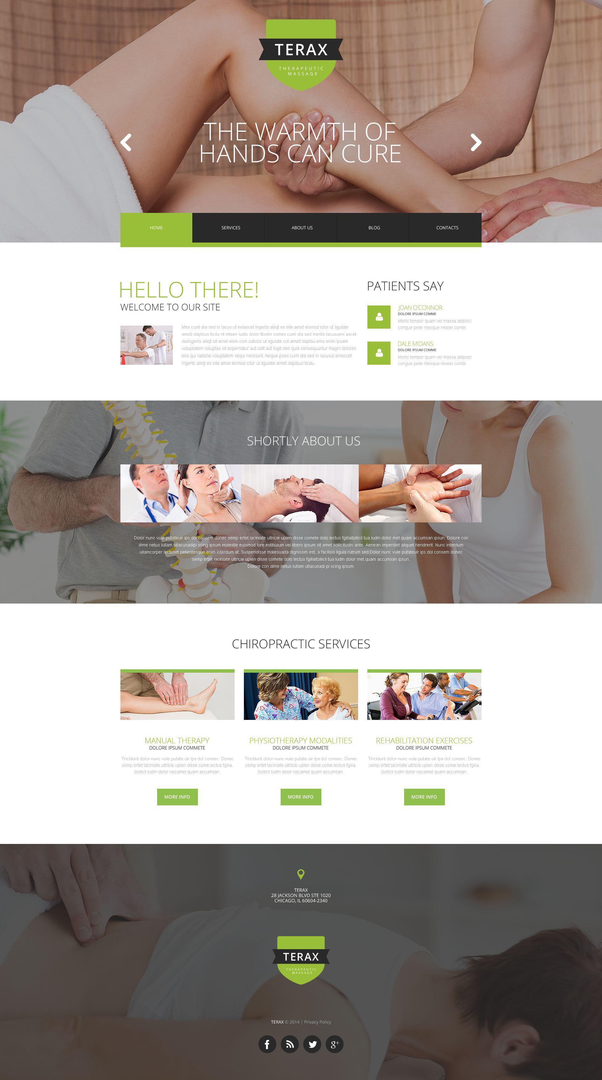Responsive Massage Therapy Web Sitesi #52523