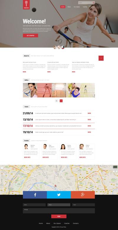 Squash Responsive Web Sitesi Şablonu