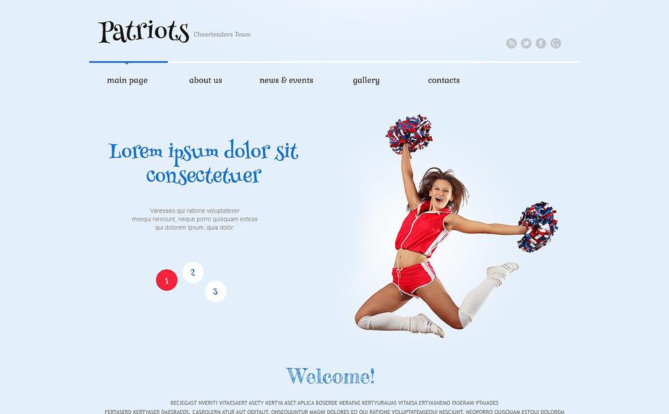 Responsywny motyw WordPress #52558 na temat: cheerleading New Screenshots BIG