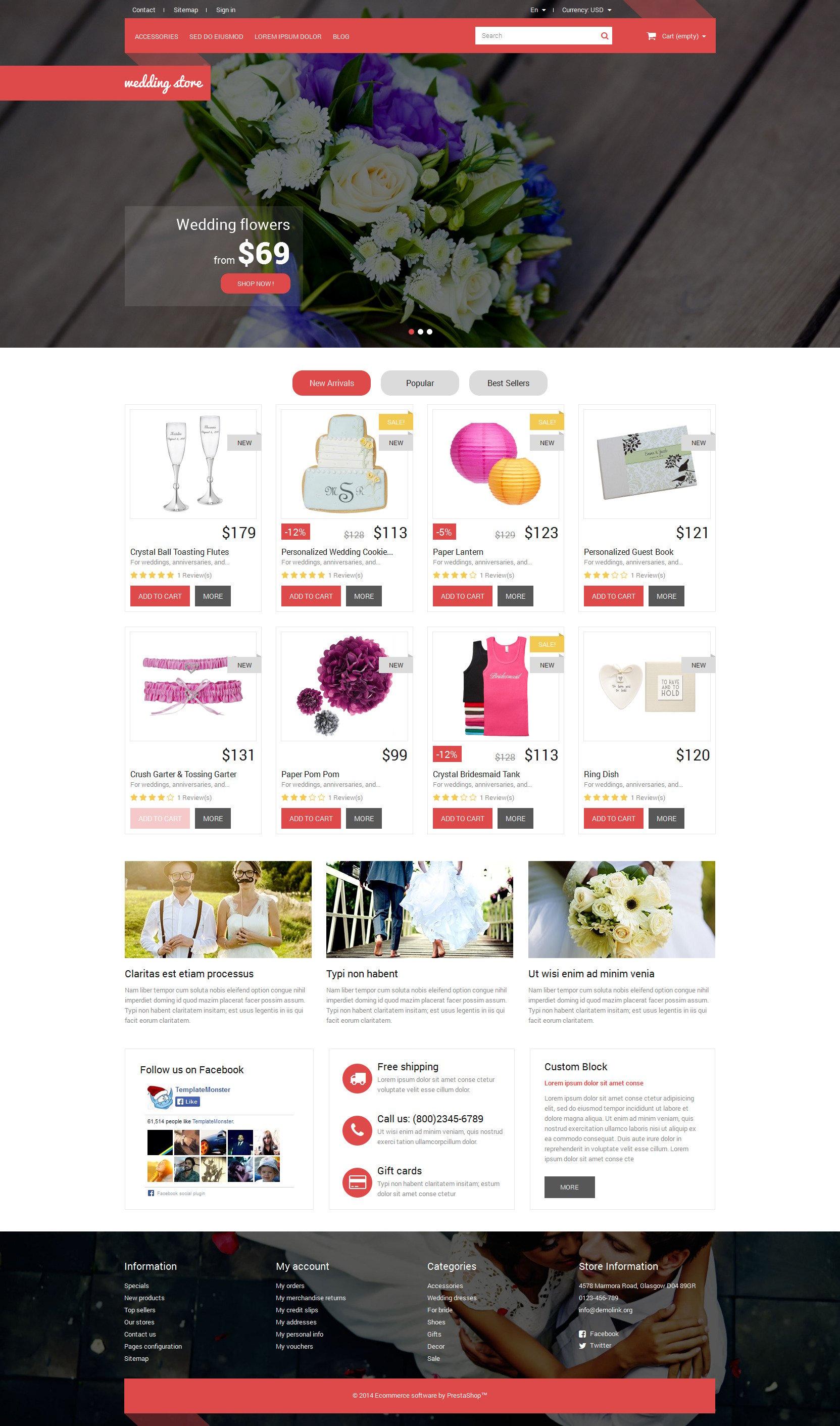 Responsywny szablon PrestaShop Wedding Day Essentials #52575