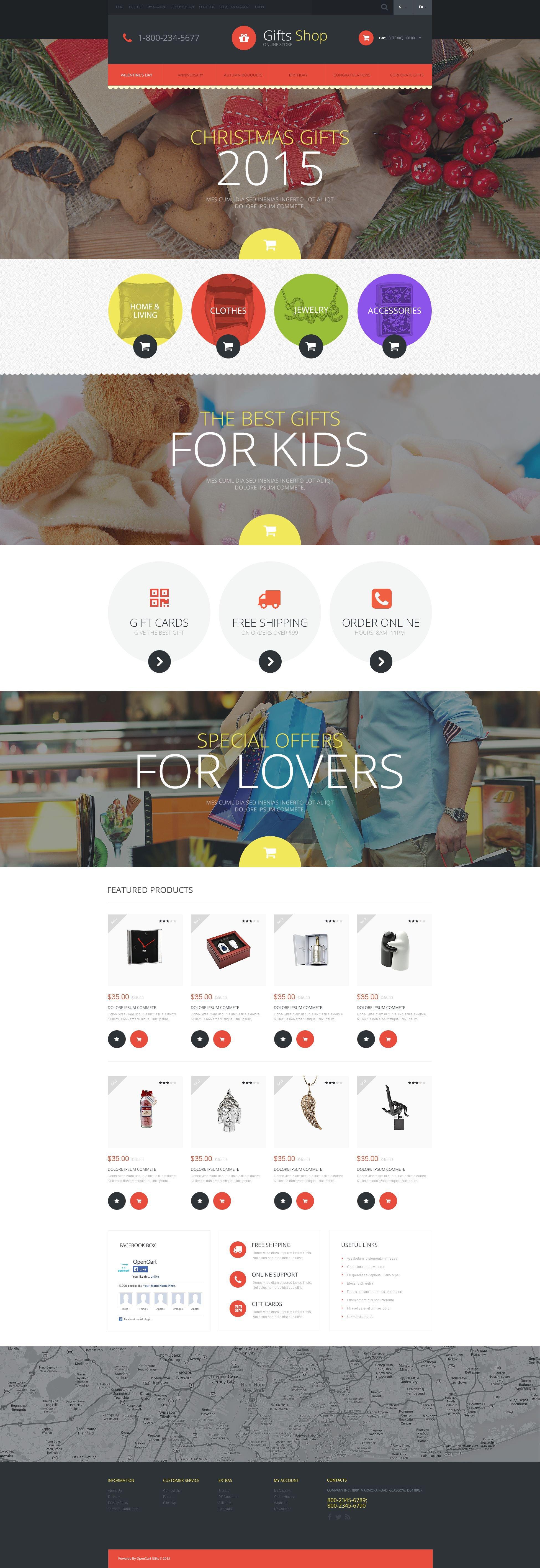 """Responzivní OpenCart šablona """"Christmas Gifts Store"""" #52526"""