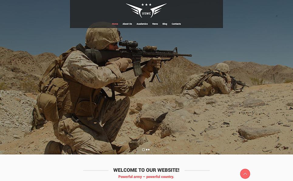 Responzivní Šablona webových stránek na téma Vojenské New Screenshots BIG