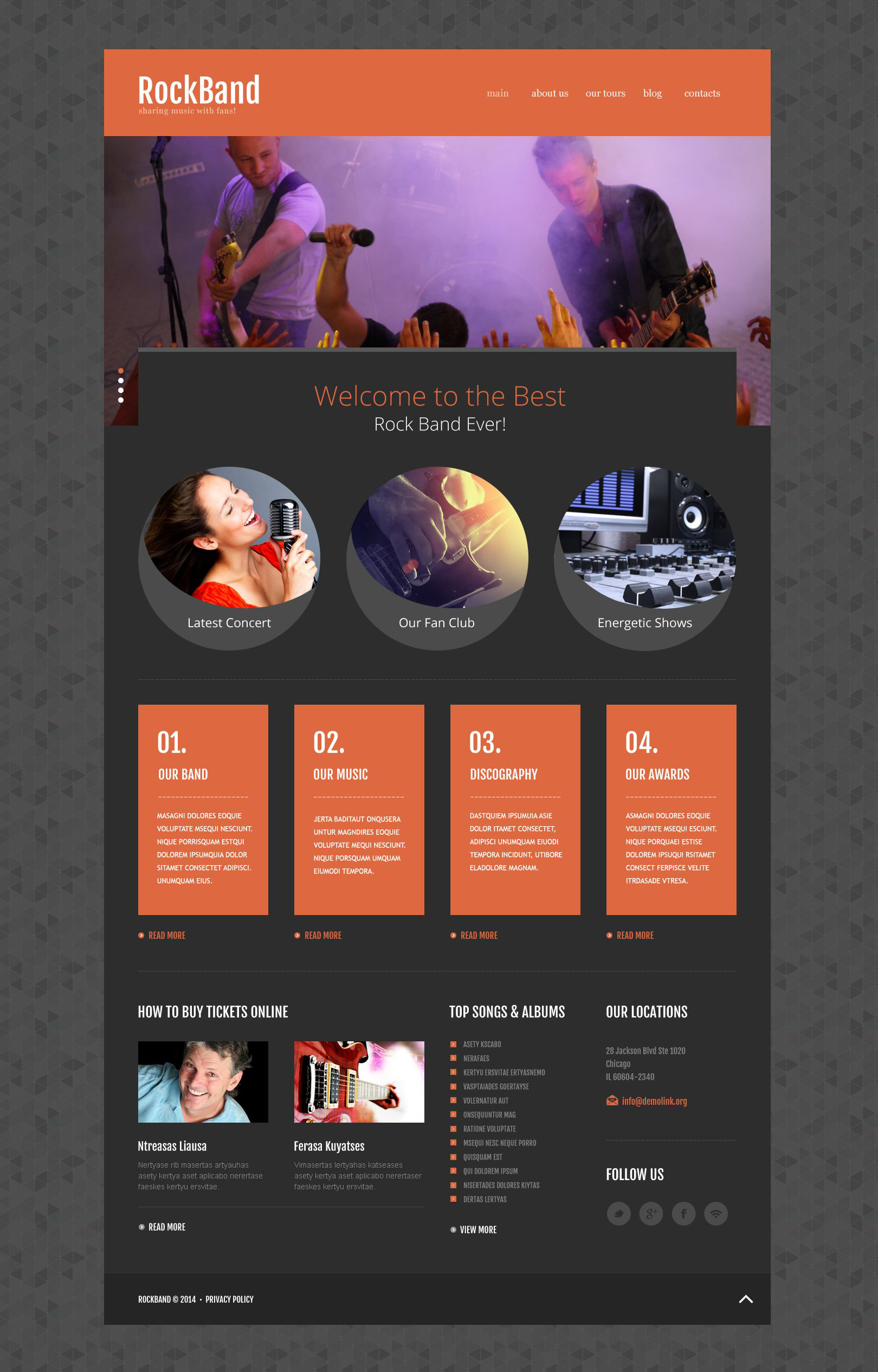 Rock Band Website Template - screenshot
