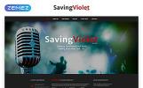 """SavingViolet - Music Band Responsive HTML5"" Responsive Website template"