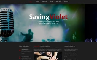 SavingViolet - Music Band Responsive HTML5 Website Template