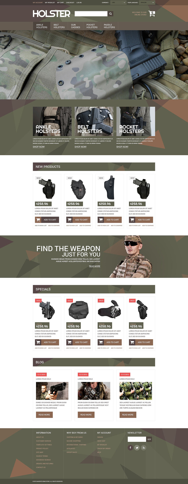 Secure Weapon Capture Magento Theme New Screenshots BIG