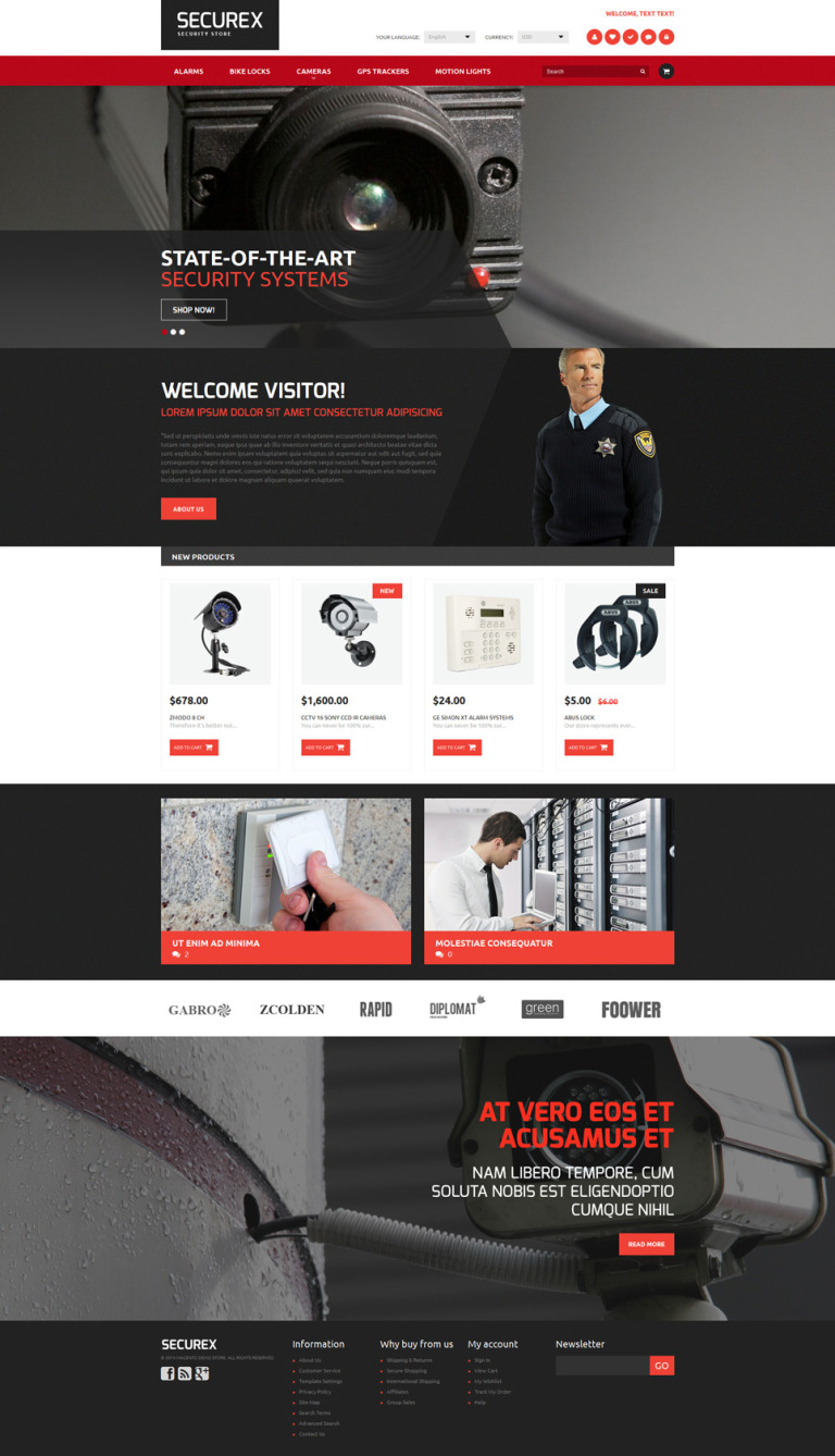 Security Products Store Magento Theme New Screenshots BIG