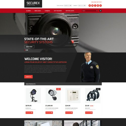 Securex Security Store - Magento Template based on Bootstrap