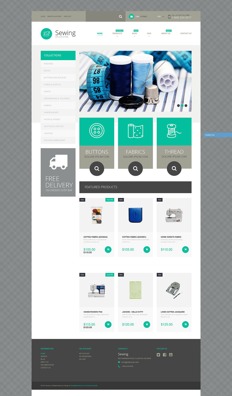 Sewing Supplies Shopify Theme New Screenshots BIG