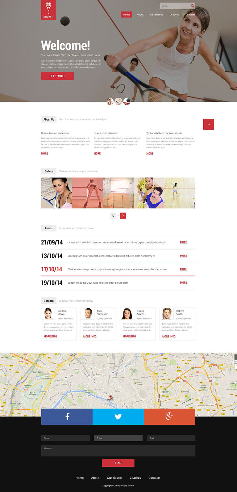 Squash Responsive Website Template New Screenshots BIG