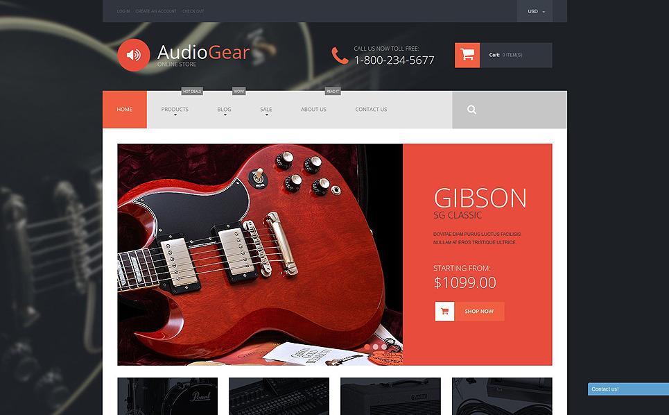 Tema de Shopify  Flexível para Sites de Loja de Áudio №52599 New Screenshots BIG