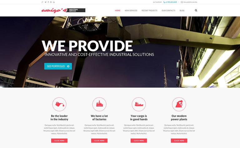 Tema de WordPress #52551 para Sitio de Industria