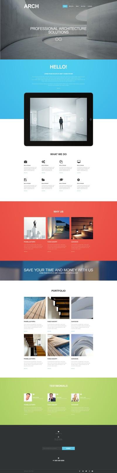 Tema Muse  #52533 per Un Sito di Architettura #52533
