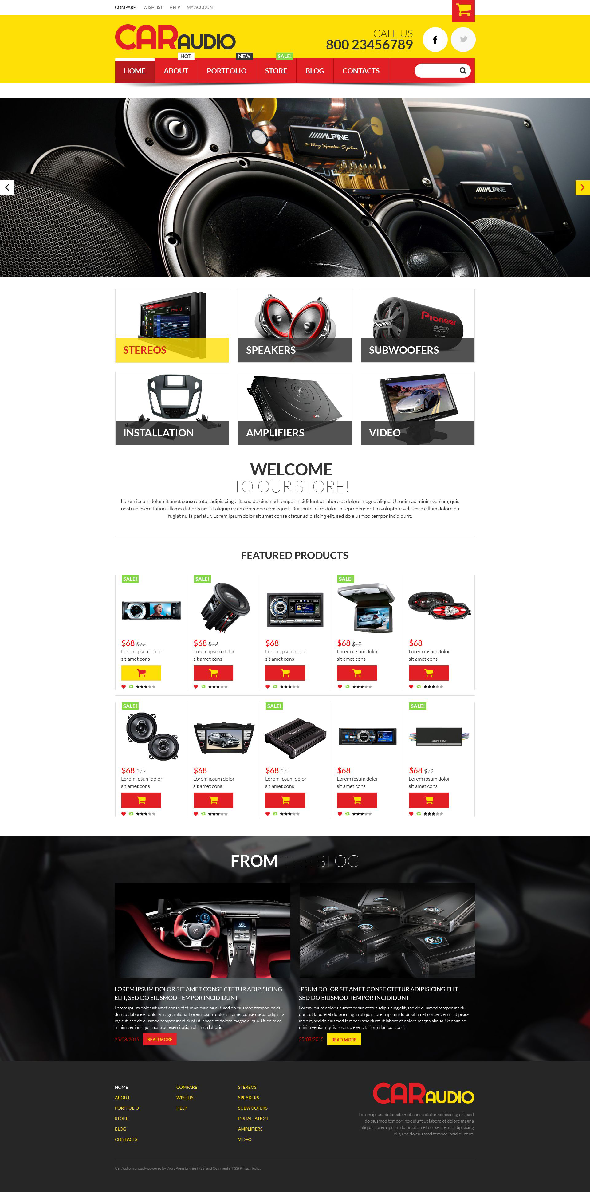 "Tema WooCommerce ""Car Audio  Video Equipment"" #52521"