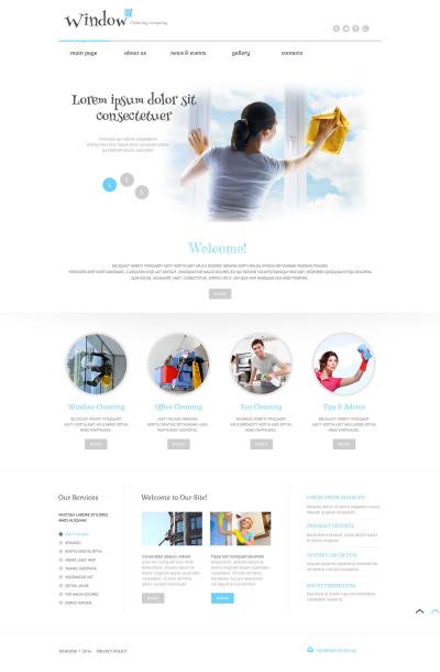 Flexível tema WordPress №52561 para Sites de Limpeza de Vidros e Janelas