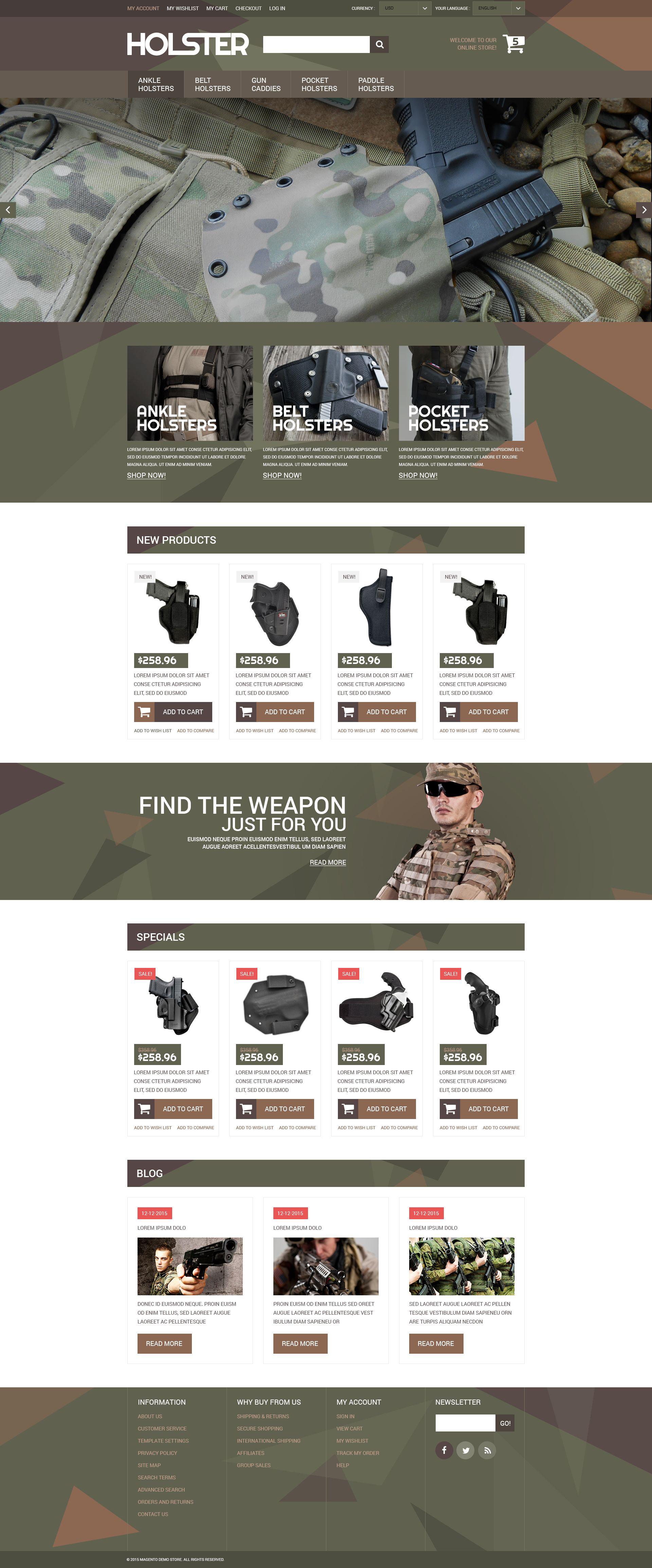 "Template Magento Responsive #52573 ""Secure Weapon Capture"""