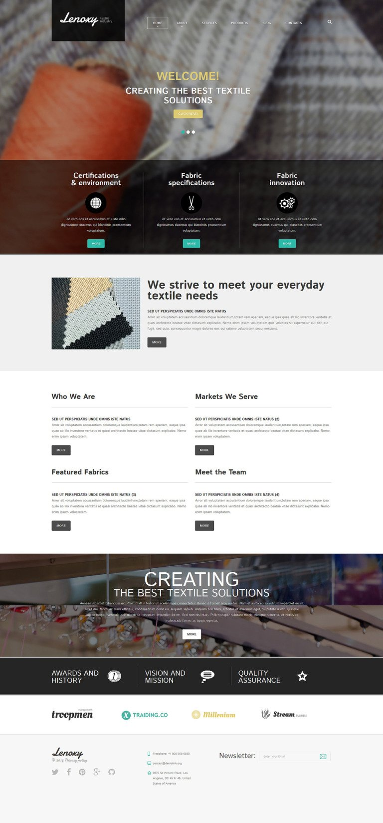 Textile Industry Joomla Template New Screenshots BIG