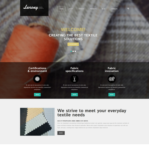 Lenoxy Textile Industry - Joomla! Template based on Bootstrap