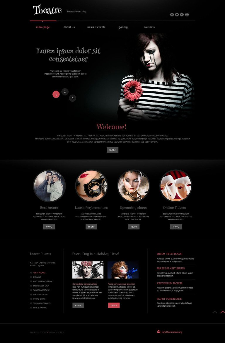 Theater Responsive WordPress Theme WordPress Theme New Screenshots BIG