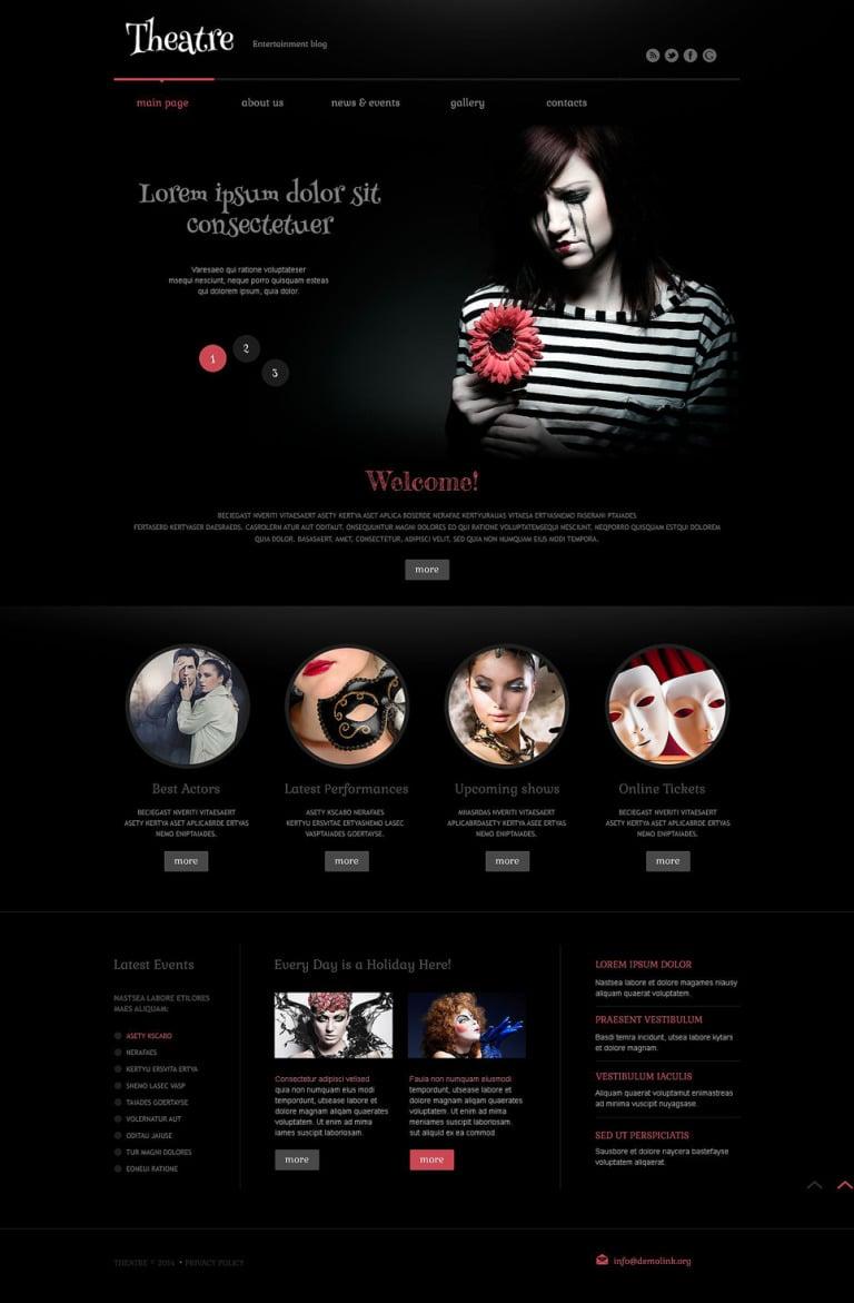 Theater Responsive WordPress Theme WordPress Theme New Screenshots BIG