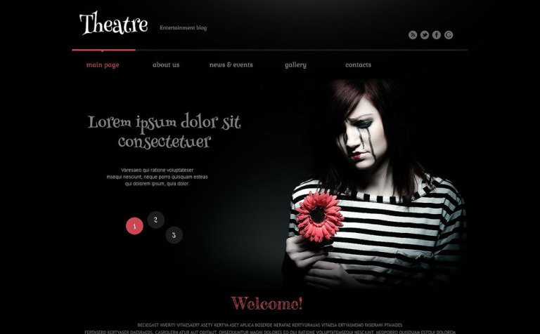 Theater Responsive WordPress Theme WordPress Theme