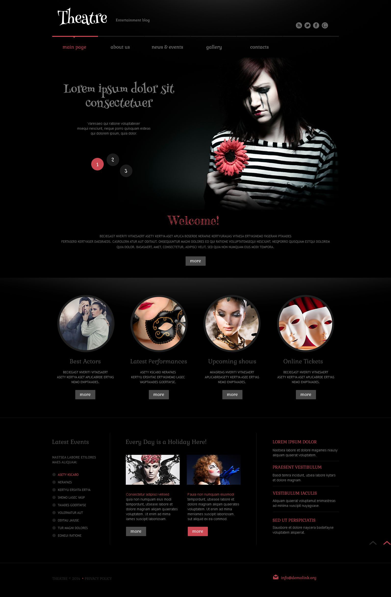Theater Responsive WordPress Theme WordPress Theme - screenshot
