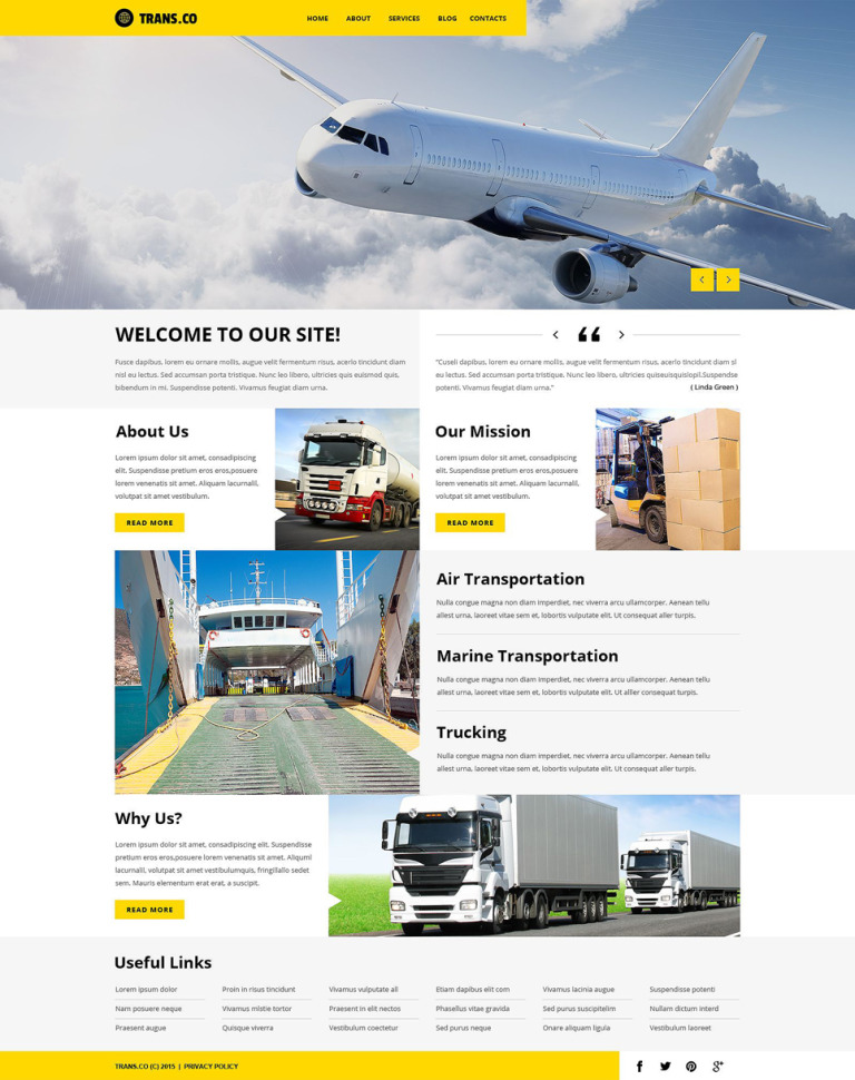 Transportation Services WordPress Theme New Screenshots BIG