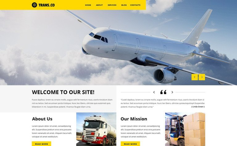 Transportation Services WordPress Theme
