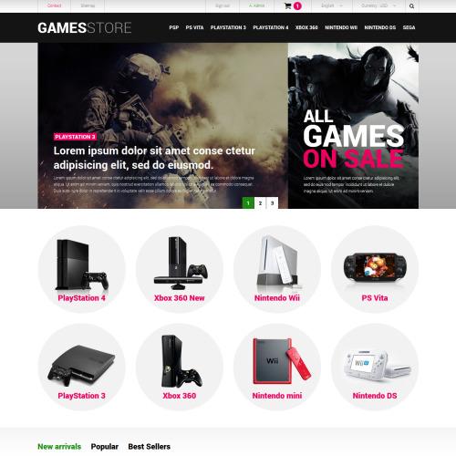 Games Store - Responsive PrestaShop Template